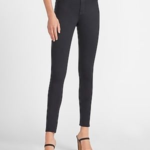 EXPRESS HIGH RISE SKINNY ANKLE ZIPPER JEANS